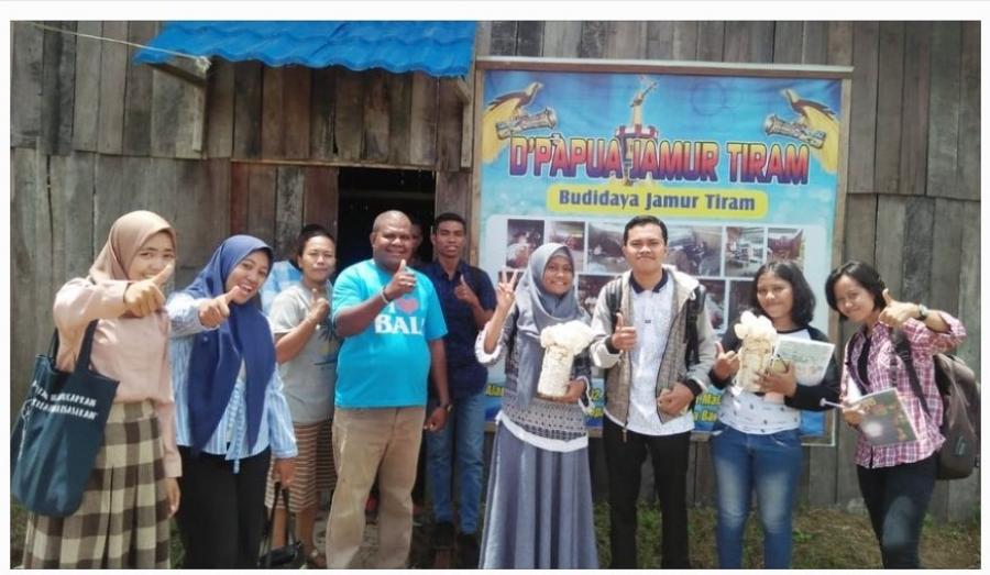 Mengenal Industri Jamur Tiram, Mahasiswa Teknik Kimia UNIMUDA Kunjungi D'Papua Jamur Tiram