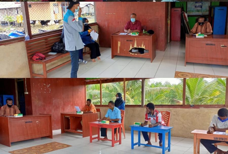 PHP2D 2021: HMTK Melakukan Sosialisasi di Kampung Maibo